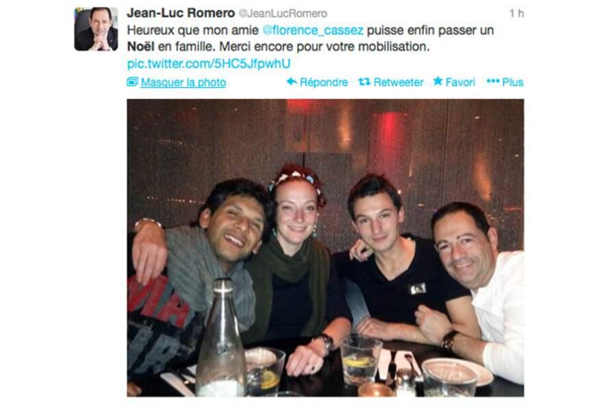 Le premier Noël de Florence Cassez avec son époux, et Jean-Luc Romero et son époux