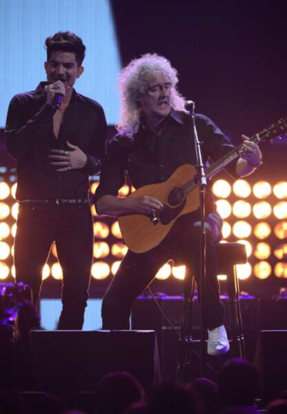 Adam Lambert et Brian May du groupe Queen