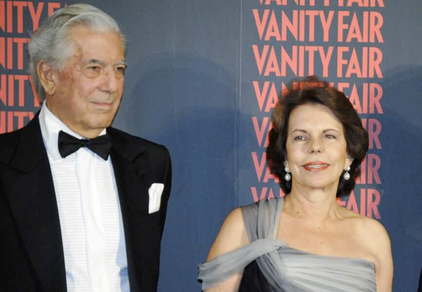 Mario Vargas Llosa et son épouse, Patricia