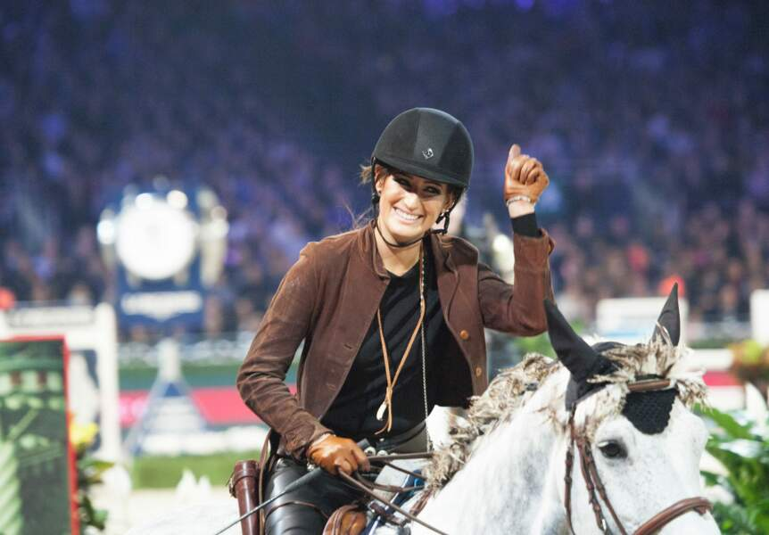 Jessica Springsteen a le sourire pendant la Style & Competition for Amade