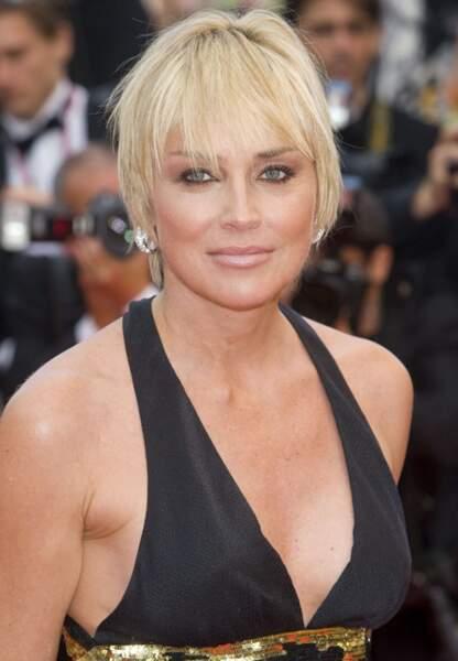 Sharon Stone pour la présentation du film I am because we are en 2008