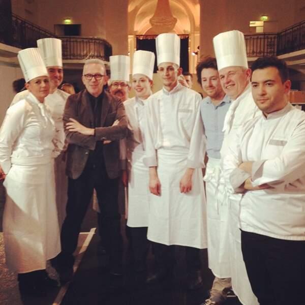 Jean Paul Gaultier, le Chef Jean Imbert et son équipe