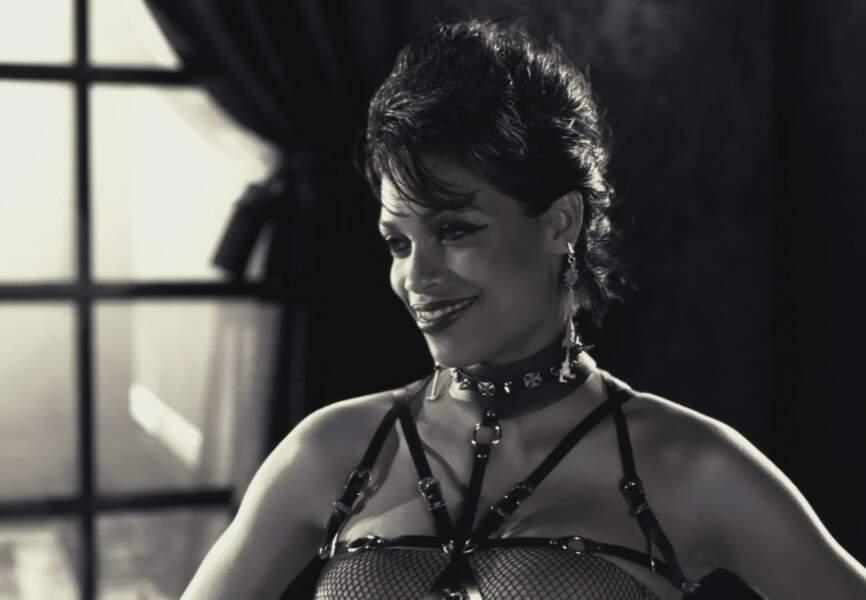 Rosaria Dawson dans un rôle de proxénète sadique. Sin City de Robert Rodriguez et Franck Miller. (2005)