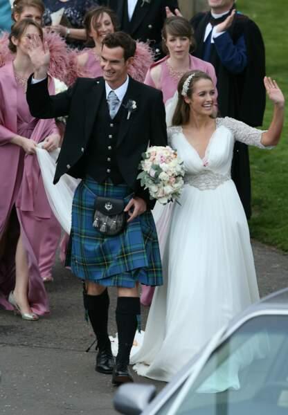 Après 10 ans d'amour, Andy Murray a épousé Kim Sears ce week-end