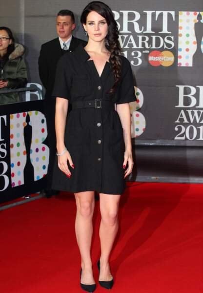 Lana Del Rey aux Brit Awards en 2013