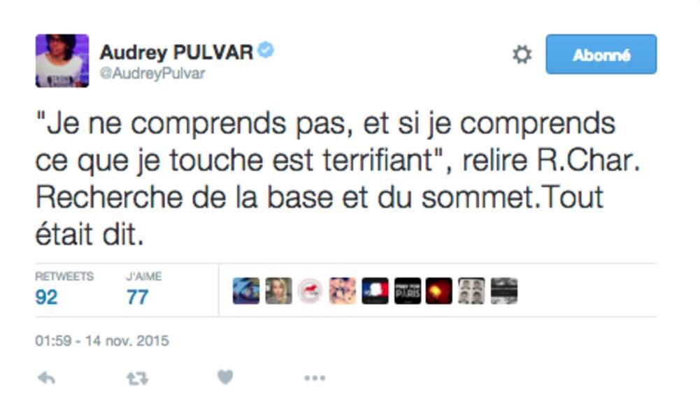 Audrey Pulvar, pensée
