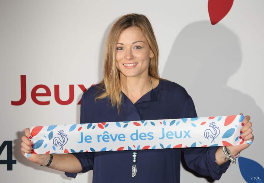 La joueuse de l'équipe de France de football Laure Boulleau avait fait le déplacement