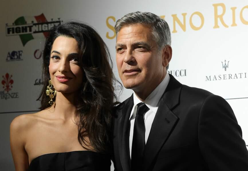George Clooney et la future mère de ses enfants, l'avocate libano-britannique Amal Alamuddin