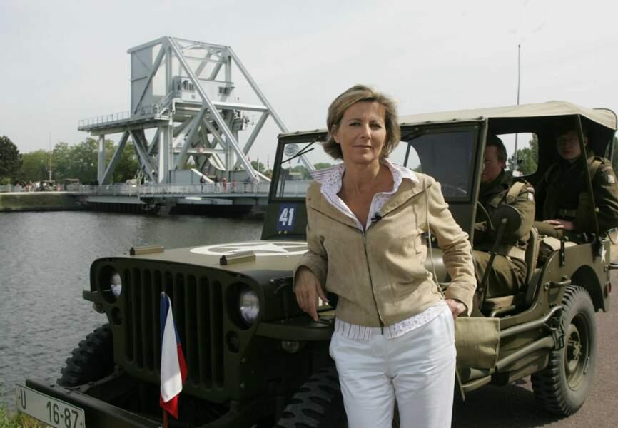 En 2004, Claire Chazal se rend en Normandie