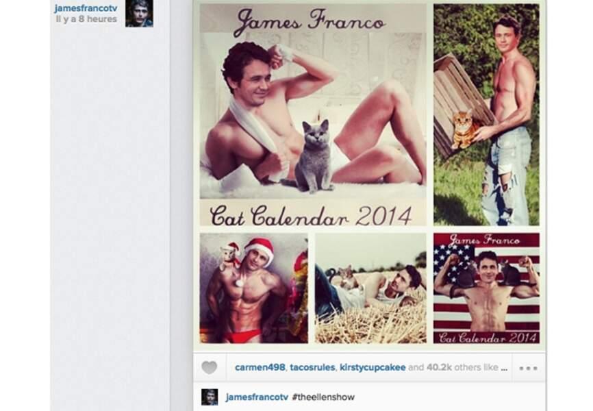 James Franco, le calendrier