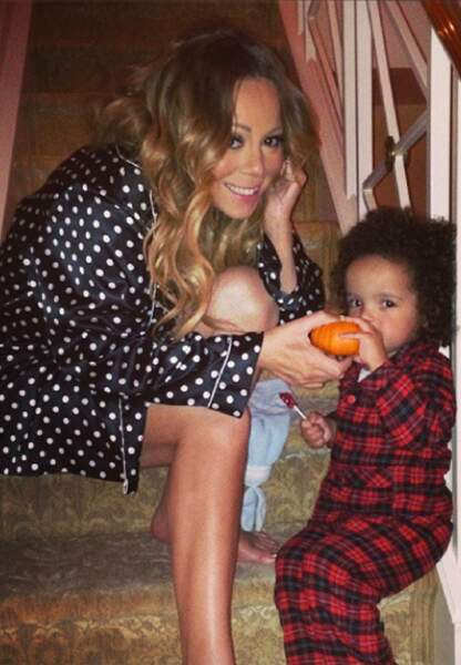 Mariah Carey et son fils Morrocan
