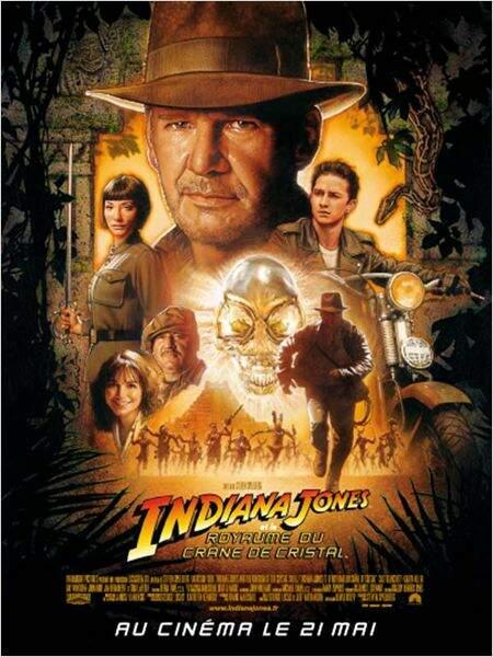 Indiana Jones et le royaume des crânes de cristal, de Steven Spielberg en 2008