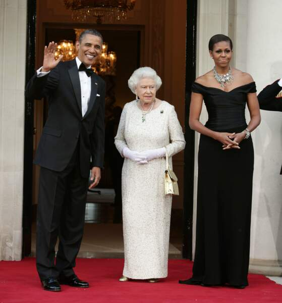 Barack et Michelle Obama sont reçus par Elizabeth II en mai 2011