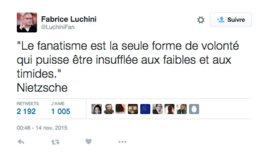 Pensée Nietzschéenne pour Fabrice Luchini