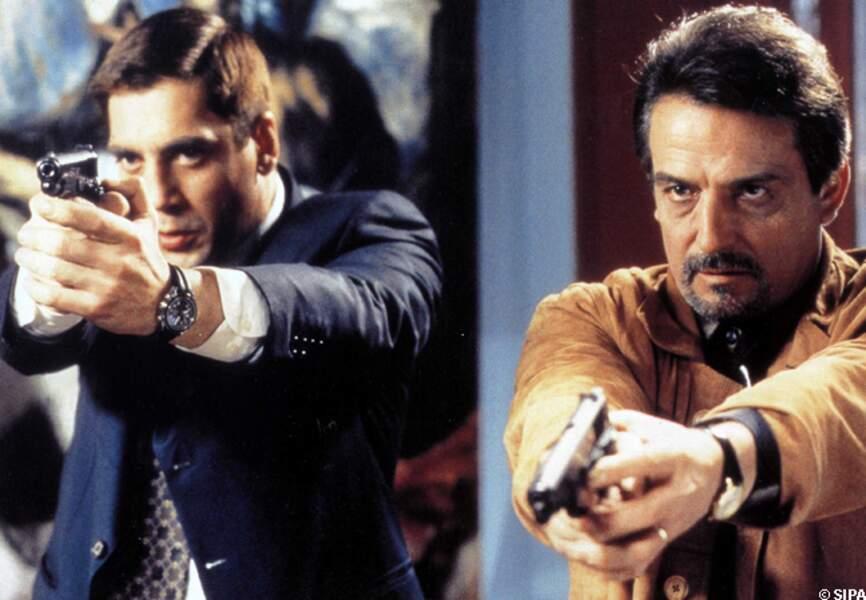 Antonio Banderas et Liberto Rabal dans En chair et en os, en 1997