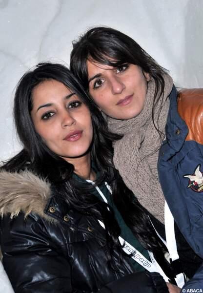 Avec sa grande copine Géraldine Nakache au festival de l'Alpe d'Huez en 2010