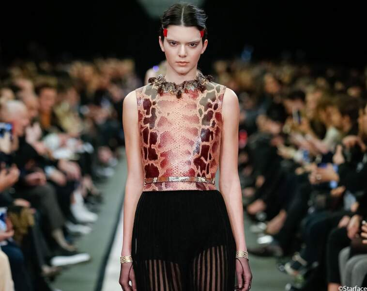 Kendall Jenner, au défilé Givenchy de la Fashion Week