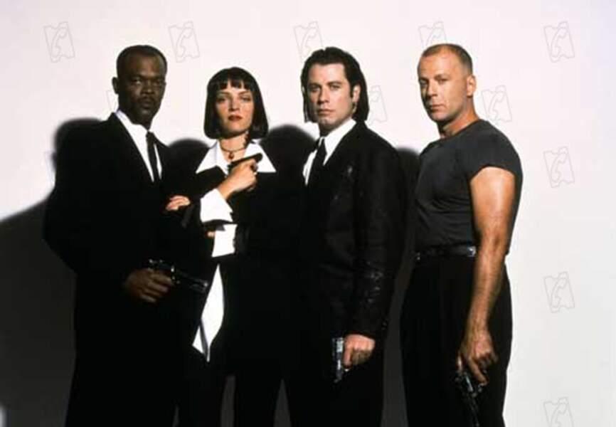 Casting quatre étoiles pour Pulp Fiction, en 1994, avec Samuel L.Jackson, Uma Thurman et John Travolta