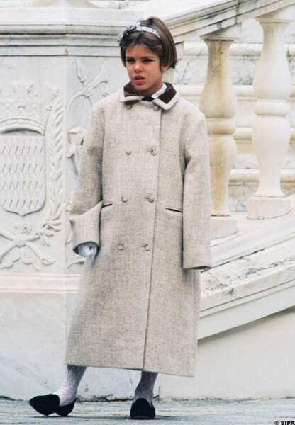Charlotte à 8 ans lors de la fête nationale de Monaco