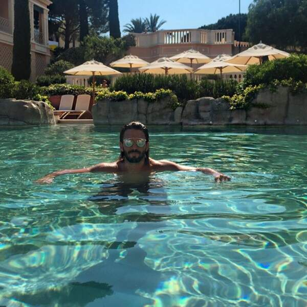 ... Thomas dans la piscine du même hôtel le lendemain