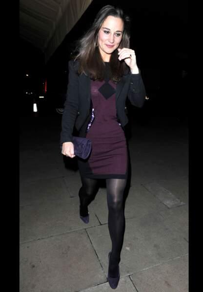 Pippa Middleton ou l'art de porter l'aubergine casual