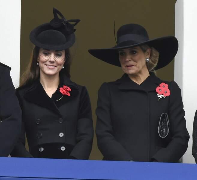 Maxima et Princesse Kate lors du Remembrance Day