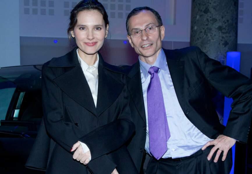 Virginie Ledoyen et Serge Naudin (Président du directoire de BMW Groupe France)