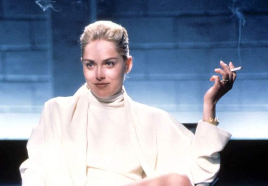 Sharon Stone dans Basic Instinct de Paul Verhoeven, imparable Catherine Tramell. (1992)