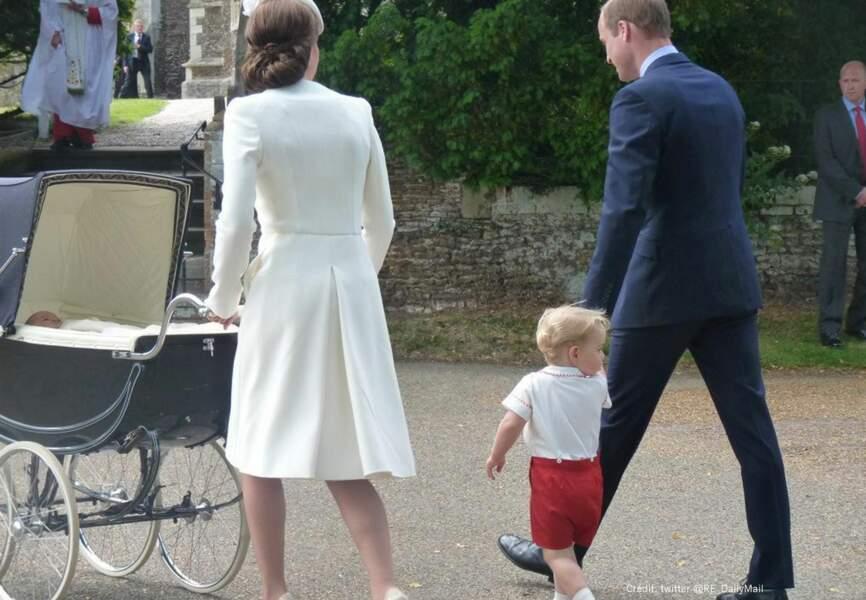 Belle complicité entre le duc de Cambridge et son fils
