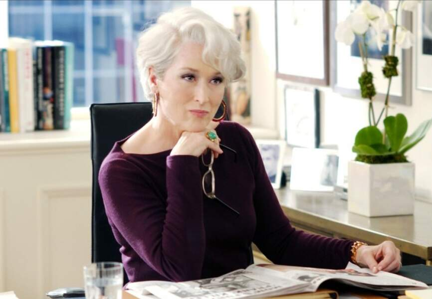 Meryl Streep en incarnation d'Anna Wintour dans le Diable s'habille en Prada. (2006)