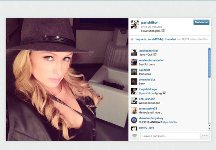 Paris Hilton sous le charme de Shangaï
