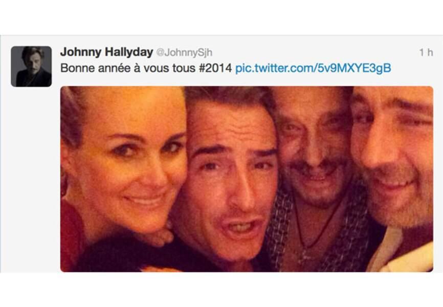 Johnny, Dujardin, Lellouche vous souhaitent la bonne année