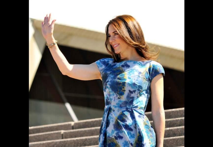 Mary en visite à l'Opéra de Sydney (octobre 2013)