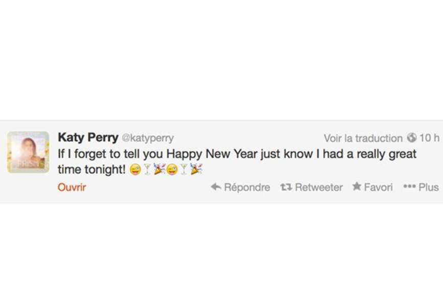 Katy Perry n'a rien oublié