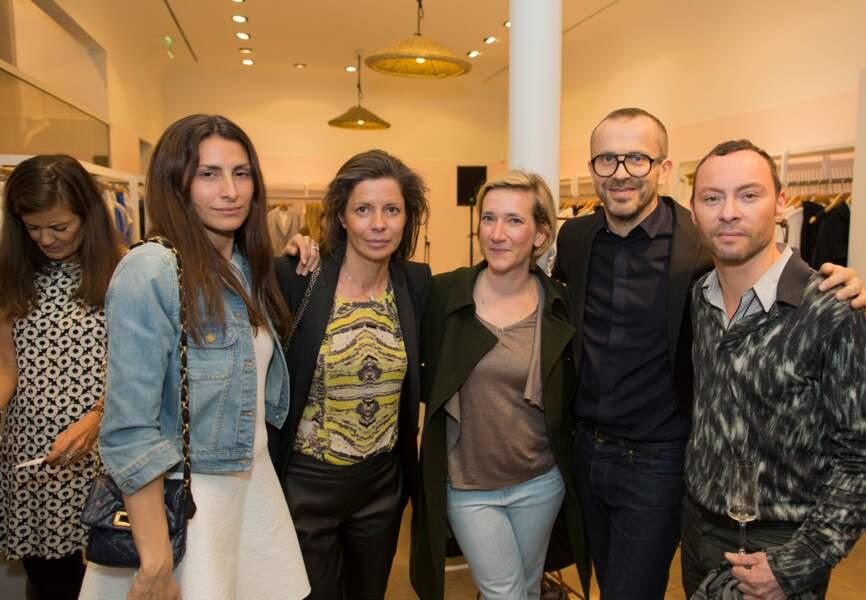 Estelle Khebour, Anabel Marquès-Meye (Condenast Espagne), Charlotte Bouvier, Nicolas Bertrand et un ami