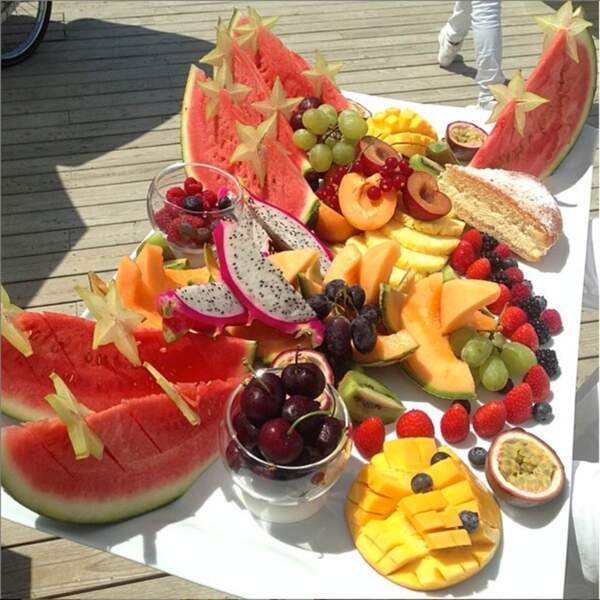 ... Un buffet de fruits vu par Thomas