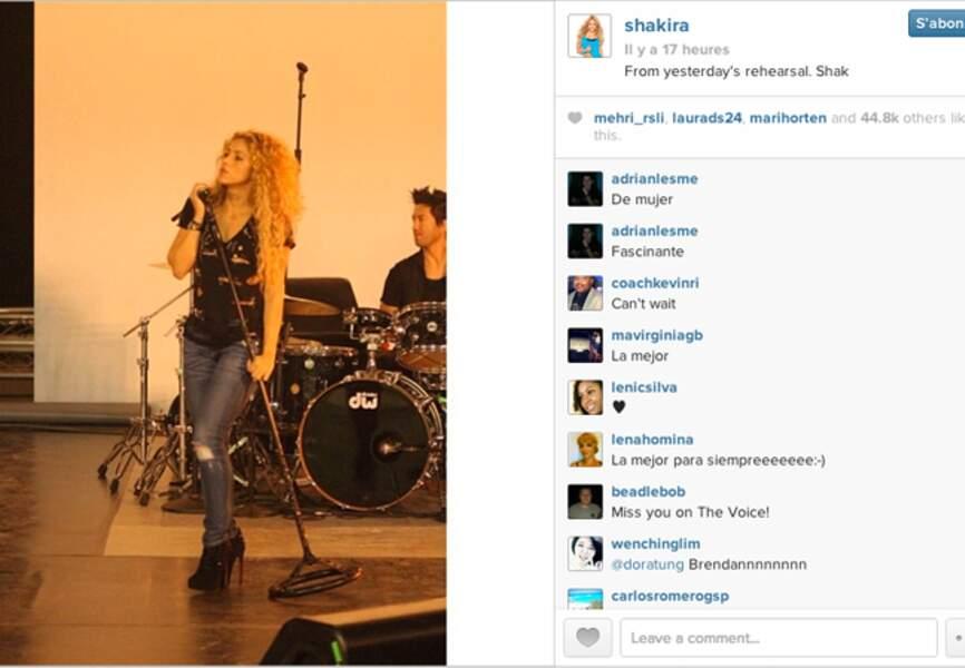 @Shakira en pleine répétition