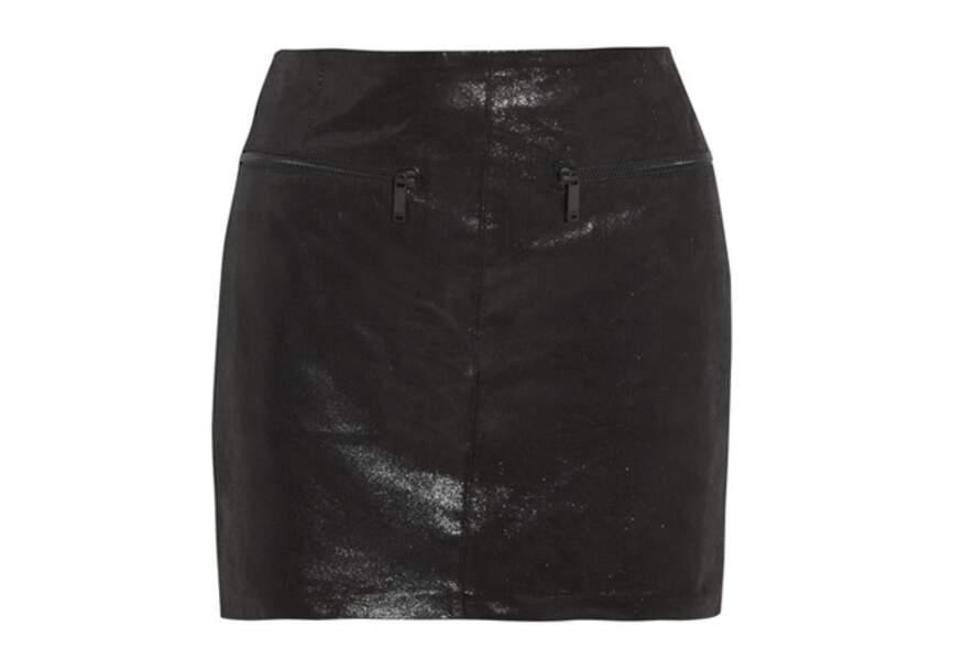 Karl Lagerfeld – Mini-Jupe en cuir – 300€