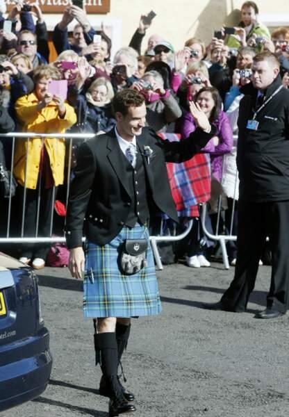 Le champion britannique avait quant à lui revétu le traditionnel kilt