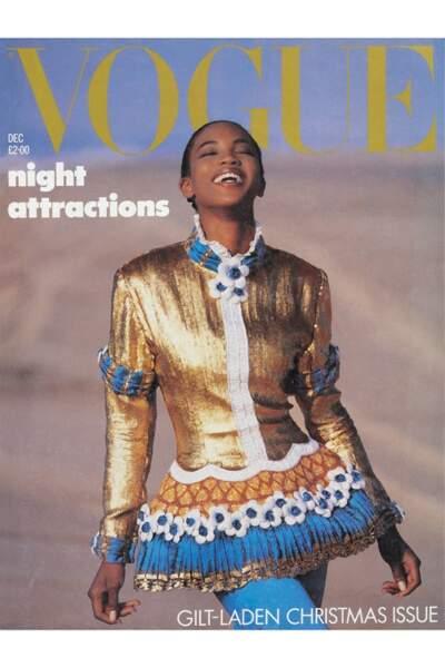 Première noire en couverture du Vogue anglais, 1987
