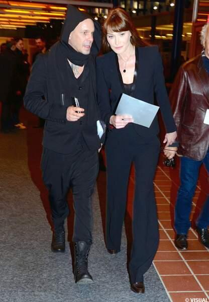 Carla Bruni et Sven Kilthau-Lander, son ami allemande de chez Universal Allemagne