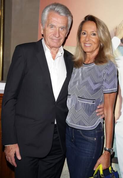 Le célèbre producteur Gilbert Coullier ici avec sa femme Nicole.