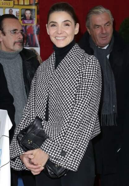 Clotilde Courau et sa veste à la 153 ème Vente aux enchères des Hospices de Beaune.