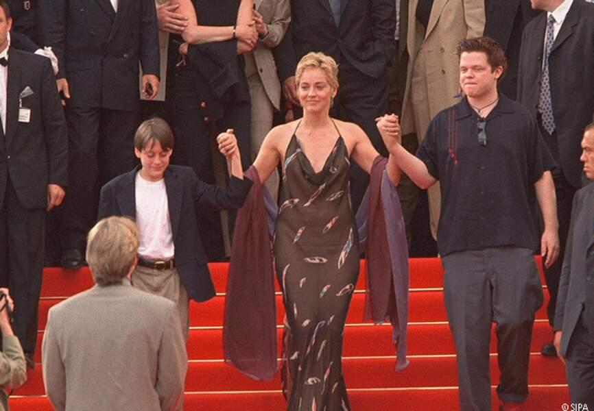 Sharon Stone présente Les Puissants en 1998