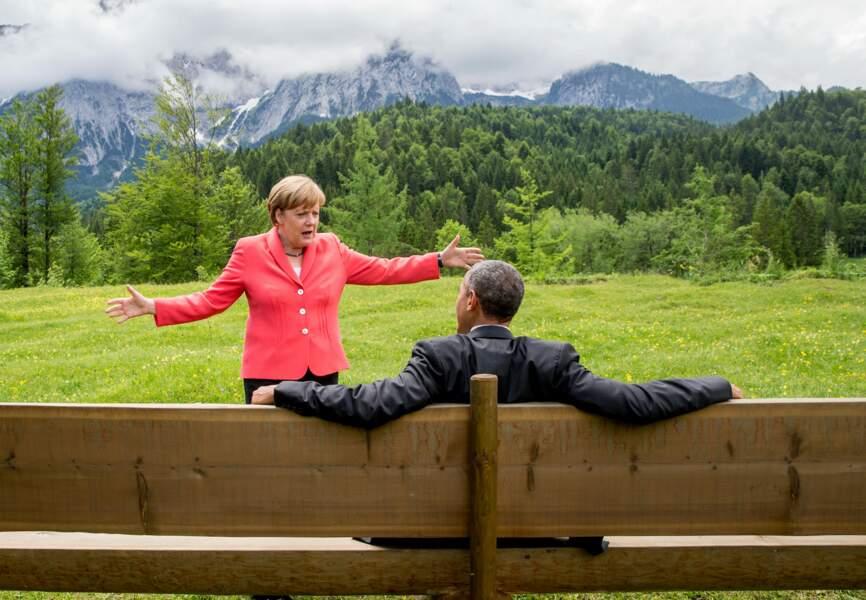 Barack Obama et Angela Merkel