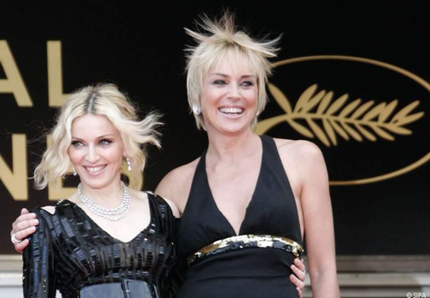 Sharon Stone et Madonna sur le tapis rouge en 2008