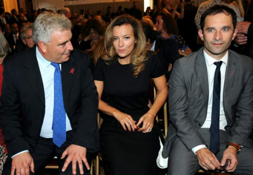 Frédéric Cuvillier, Valérie Trierweiler et Benoît Hamon