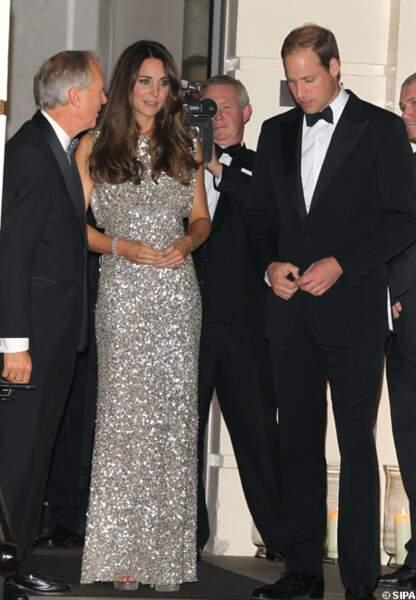 Le prince William et la princesse Kate au milieu des invités
