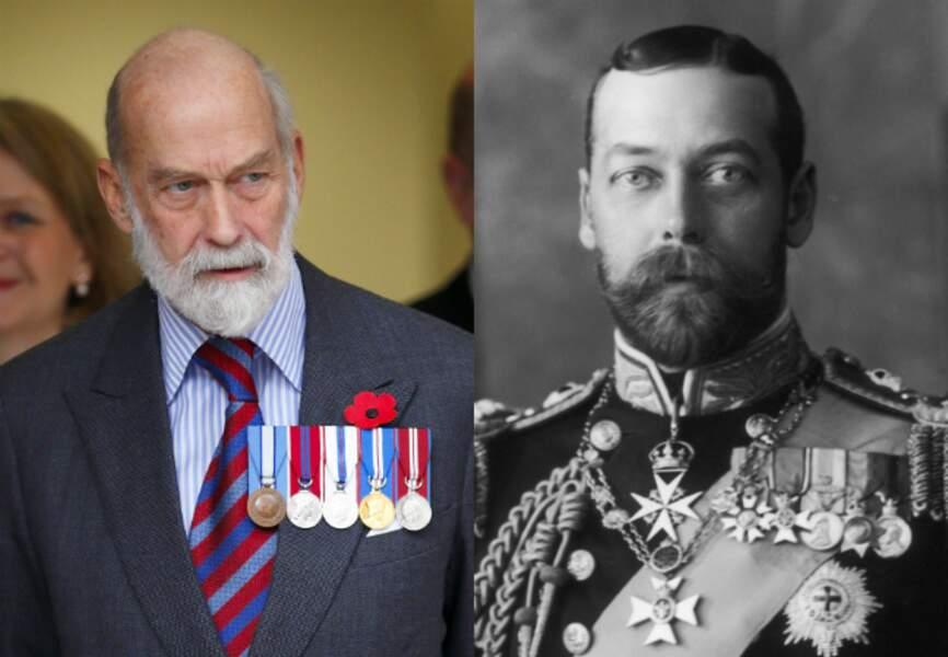 Le prince Michael de Kent, cousin germain de la reine Elizabeth, et son grand-père le roi George V…