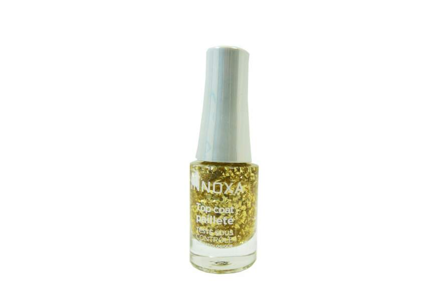 Innoxa, Top Coat Feuille d'or pailleté, 5,90€